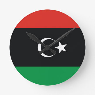 lybia libia country flag clock
