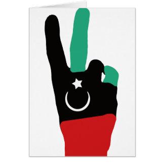 Lybia Victory Hand - Gaddafi end Card
