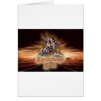 Lycanthrope Lane Greeting Card