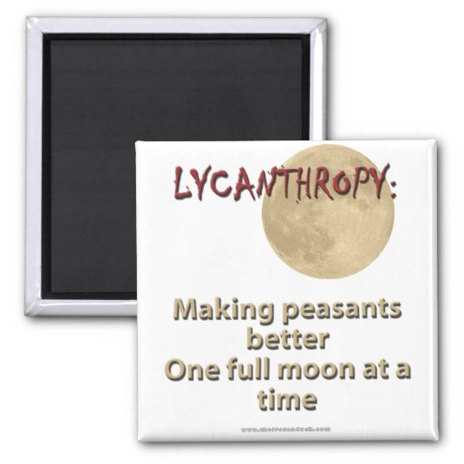 Lycanthropy 2 Inch Square Magnet