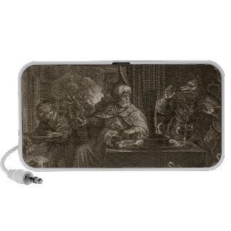 Lycaon transformó en un lobo 1731 el grabado sistema altavoz