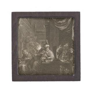 Lycaon transformó en un lobo 1731 el grabado caja de regalo de calidad