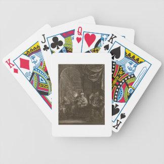 Lycaon transformó en un lobo 1731 el grabado baraja de cartas