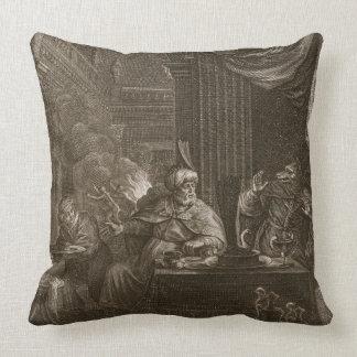 Lycaon transformó en un lobo 1731 el grabado almohada