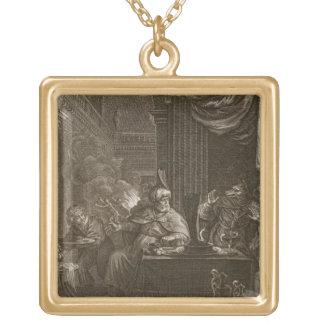 Lycaon transformó en un lobo 1731 el grabado pendiente personalizado