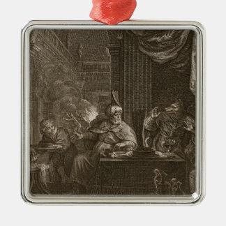 Lycaon transformó en un lobo 1731 el grabado adorno