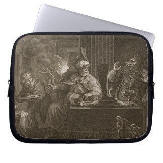 Lycaon transformó en un lobo 1731 el grabado fundas portátiles