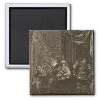 Lycaon transformó en un lobo 1731 el grabado imanes