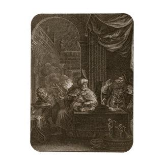 Lycaon transformó en un lobo 1731 el grabado iman flexible