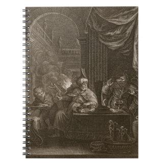 Lycaon transformó en un lobo 1731 el grabado cuaderno