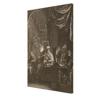 Lycaon transformó en un lobo 1731 el grabado lona envuelta para galerias