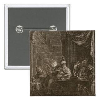 Lycaon transformó en un lobo 1731 el grabado pins