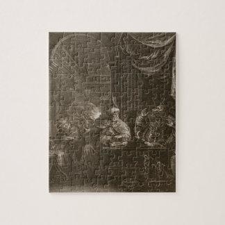 Lycaon transformó en un lobo 1731 el grabado puzzle con fotos