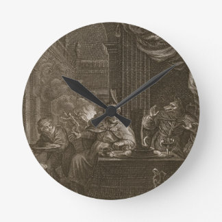 Lycaon transformó en un lobo 1731 el grabado relojes de pared