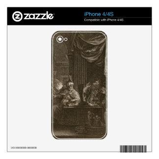 Lycaon transformó en un lobo 1731 el grabado calcomanías para iPhone 4