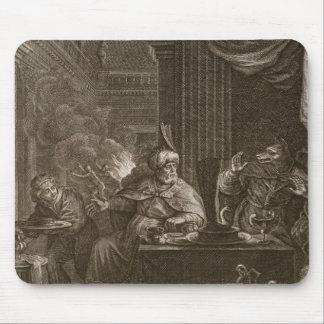 Lycaon transformó en un lobo 1731 el grabado alfombrilla de ratones
