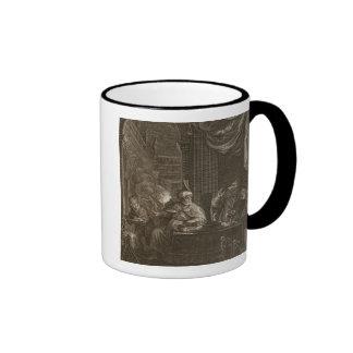 Lycaon transformó en un lobo 1731 el grabado tazas de café