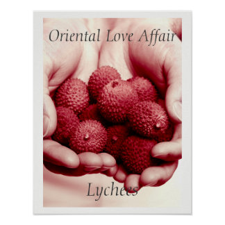 Lychees Exotic Oriental Fruit Photograph Poster