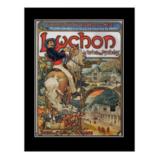 Lychon Pyrenees vintage poster