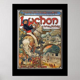 Lychon Pyrenees vintage poster
