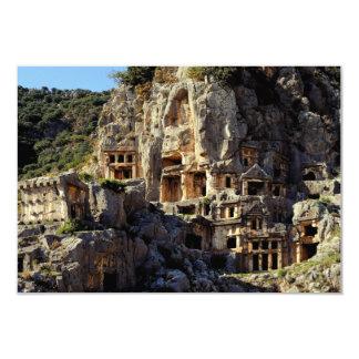 Lycian Rock-Cut Tombs Koka Temple Fronts Myra Card