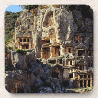 Lycian Rock-Cut Tombs Koka Temple Fronts Myra Drink Coasters