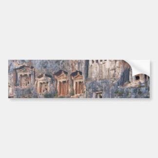 LYCIAN ROCK TOMBS TURKEY BUMPER STICKER