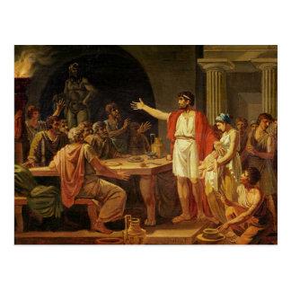 Lycurgus mostrando a los Ancients de Sparta sus Tarjetas Postales