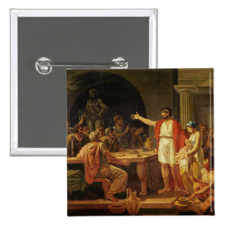 Lycurgus Showing the Ancients of Sparta their 2 Inch Square Button