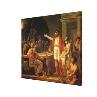 Lycurgus Showing the Ancients of Sparta their Canvas Print