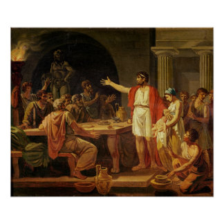 Lycurgus Showing the Ancients of Sparta their Poster