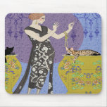 Lydia & Bengal in Yellow and Blue Mouse Pads