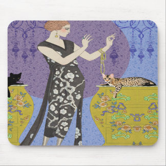 Lydia Bengal in Yellow and Blue Mouse Pads