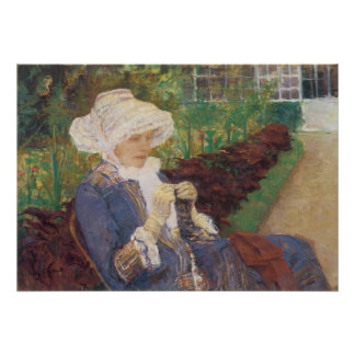 Lydia Crocheting in Garden at Marly, Mary Cassatt Poster