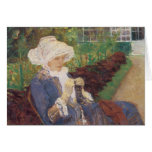 Lydia Crocheting in the Garden at Marly by Cassatt Cards