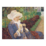 Lydia Crocheting in the Garden at Marly by Cassatt Invite