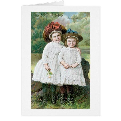 Lydia E Pinkhams Grandchildren Greeting Card