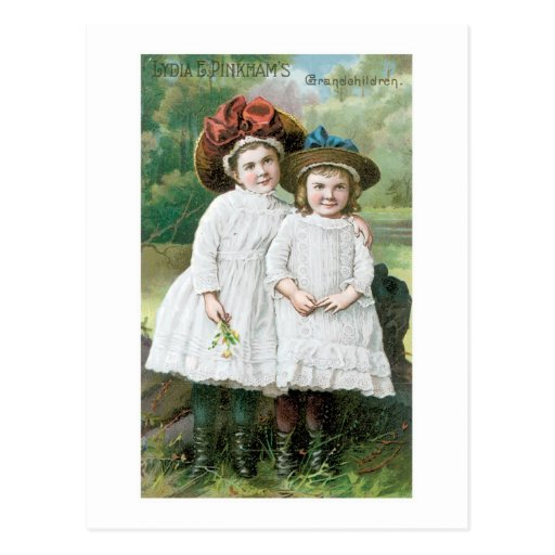 Lydia E Pinkhams Grandchildren Postcard