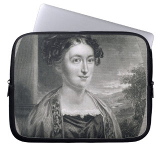 Lydia Huntley Sigourney (1791-1865), engraved by B Laptop Computer Sleeves