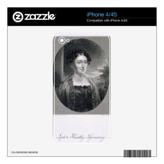 Lydia Huntley Sigourney (1791-1865), engraved by B Skin For iPhone 4