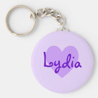Lydia in Purple Basic Round Button Keychain