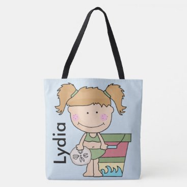 Beach Themed Lydia's Personalized Beach Tote