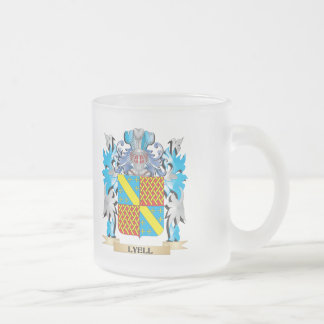 Lyell Coat of Arms - Family Crest 10 Oz Frosted Glass Coffee Mug