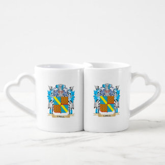 Lyell Coat of Arms - Family Crest Couples' Coffee Mug Set