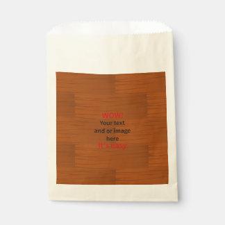 Lyer bajo de madera añade su propio texto bolsa de papel