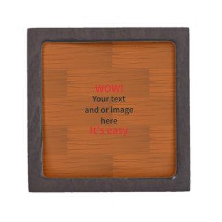 Lyer bajo de madera añade su propio texto caja de recuerdo de calidad