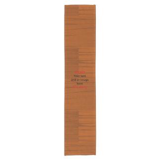 Lyer bajo de madera añade su propio texto camino de mesa corto