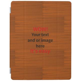 Lyer bajo de madera añade su propio texto cover de iPad