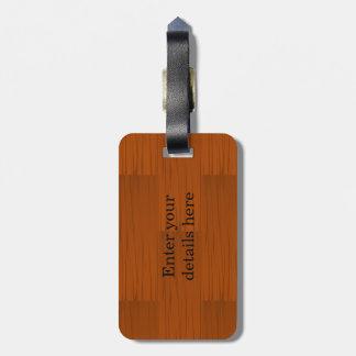 Lyer bajo de madera añade su propio texto etiqueta de equipaje