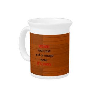 Lyer bajo de madera añade su propio texto jarras de beber